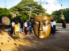 Has visto alguna vez el rostro de Buda? (Nebelkuss) Tags: myanmar bagán asia birmania burma dhammayangyi templo temple buda buddha mascara mask fujixt1
