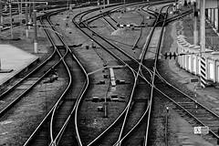 choose your way (haidem3) Tags: railway trainstation rail urban blackandwhite industria industrial