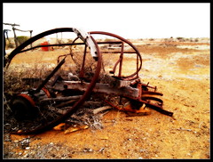 The wheels have fallen off (bushman58929) Tags: abandoned bushman58929 australia ruins outback olympus digital reddirt country