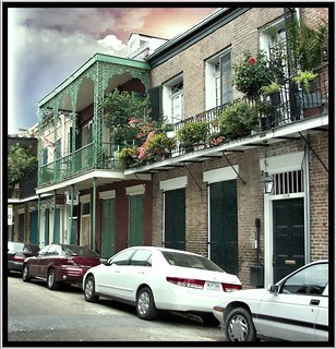 New Orleans  Louisiana - French Quarters ~ Balconies ~ Flower Planters