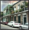 New Orleans  Louisiana - French Quarters ~ Balconies ~ Flower Planters (Onasill ~ Bill Badzo) Tags: usa neworleanscounty neworleans french quarters balcony balconies flower planters la louisiana vieux carre historic district nrhp travel tourist america attractionsite conventions city bienville spanish historical buildings street scene onasill old vintage photo rain storm tree people road building shop sign nola clouds sunset sky orleans county