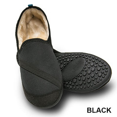 MensAllDaySlippers_hero_34034_lg_600 (firstSTREETonline) Tags: firststreet aging seniors olderadult boomers caretakers shoes slippers indoor outdoor warm fluffy sturdy safety black shoe