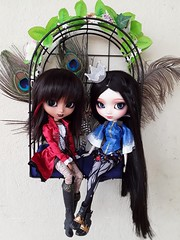 CJ and Evie - The Descendants (Lunalila1) Tags: doll groove pullip catwoman fc custo custom descendants thedescendants evie cj akai