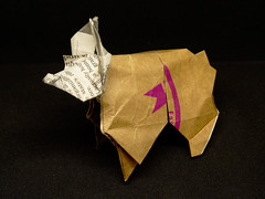 Bulldogue Français de Barth Dunkan (chouhartem) Tags: origami bulldog barthdunkan magicfingaz kraft journal
