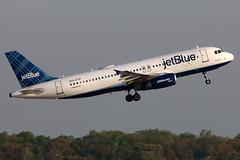 N521JB jetBlue A320-232 departing KCLE (GeorgeM757) Tags: n521jb jetblue a320232 kcle clevelandhopkins georgem757 aircraft alltypesoftransport airplane aviation canon70d 6r airbus