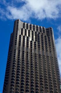 Sun on a building