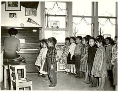 Youth Singing at Norway House Residental School (vintage.winnipeg) Tags: manitoba canada vintage history historic norwayhouse