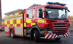 SN64 UAO (Ben Hopson) Tags: scottish fire rescue service scotland edinburgh 999 scania appliance pump sighthill ladder 1 k06 ko6p1 2014 edinbourgh