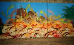 ruber (RONEA-RUBER-GEK) Tags: ruber gek team graffiti canyon blue sky freestyle wild instinct fat cap astro tag mur