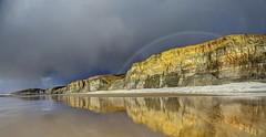 To be kind (pauldunn52) Tags: glamorgan heritage coast wales temple bay storm rainbow reflection wet sand sun