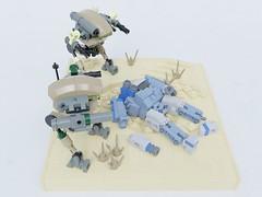 Warrior has fallen (Sunder_59) Tags: lego moc render blender3d mecabricks mech mecha battletech scifi future military
