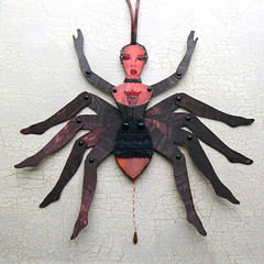 Spider paper doll (JuliaPeculiart) Tags: spider vampire papercrafts paper doll jointed articulated halloween wall decor handmade macabre gothic horror spooky
