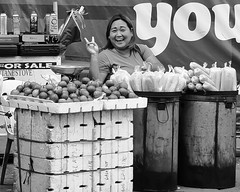 You (Beegee49) Tags: street vendor smiling filipina fruit bacolod city philippines