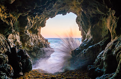 Malibu California Ocean & Beach Sea Cave Sunset! Epic Malibu Long Exposure Fine Art Landscape Seascape HDR Photography! Elliot McGucken Fine Art Photography! Sony A7R II & Carl Zeiss Sony Vario-Tessar T* FE 16-35mm f/4 ZA OSS Lens SEL1635Z (45SURF Hero's Odyssey Mythology Landscapes & Godde) Tags: beach sea cave sunset epic malibu long exposure fine art landscape seascape hdr photography elliot mcgucken sony a7r ii sharp carl zeiss variotessar t fe 1635mm f4 za oss lens sel1635z