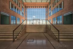 "Staircase ""Grosse Elbstrassse 45 // 47 "" (Stefan Sellmer) Tags: sunshine grosseelbstrasse architecture hamburg staircase germany stairs bluesky deutschland de"