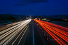 lane closed (pbo31) Tags: eastbay alamedacounty bayarea california evening may spring 2018 boury pbo31 color nikon d810 livermore roadway lightstream motion traffic infinity 580 highway overpass bluehour blue red over night dark black