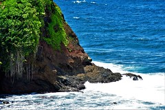 View from the beach (thomasgorman1) Tags: cliff vegetation tropical island nikon outdoors shore beach coast hamakua honolii hilo seascape landscape scenic view tide whitewater nature zoom zoomed colors