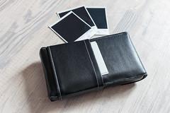 Pochette Polaroid (Elowdi) Tags: pochette polaroid skai néoprène noir couturesgrises accessoire rétro