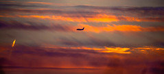 Lifting the anchors, letting myself float (evakongshavn) Tags: blahblahscape sunset airplane sunsets colors colours colorful colourful orange light yellow