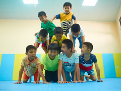 Third LiveABC Demo 17 (C & R Driver-Burgess) Tags: boy girl elementary school age young little small child kid primary padded room gym gymnastics acrobalance play fun game support balance