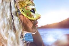 The Mask (Eric Champs) Tags: sun sexygirl landscape sunbluesky gold sea paca beach sky beauty frenchriviera rocks mediterranee mer
