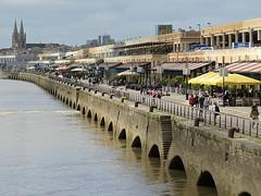 View towards Bordeaux town from the Pont Jacques Chaban Delmas (Nigel L Baker) Tags: bordeaux garonne riverside