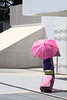 (Michael Wernli) Tags: umbrella suitcase pink streetphoto