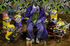 Minions (Drummy ™©) Tags: joker batman dc comics minions funny comical toys toyphotography villain imagination creative
