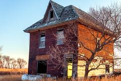 Abandoned Farmhouse, 2018 (ScottSmith.Photos) Tags: abandoned farmhouse house farm old country rural countryside evening sunset manitoba canada prairies memories nostalgia