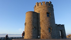 O'Brien's Tower, Cliffs of Moher coastal walk, County Clare, Ireland (David McKelvey) Tags: 2018 europe ireland county clare coastal walk cliffs moher sony dscrx100 sunset obrienstower