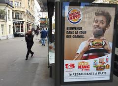 Burger King ad (david ross smith) Tags: paris france graffiti art ad poster sign signage lesgrandsboulevards 11tharr 11tharrondissement sticker text burgerking