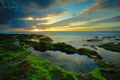 Sunset (gjaviergutierrezb) Tags: sunset green sea seascape clouds cloudy tenerife canaryislands