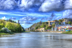 Living With My Head In The Clouds (HiJinKs Media...) Tags: bristol blue clouds sky springtime trees road water river flow wind life spring city movement colours houses home architecture buildings structures monuments history nautical colorsinourworld