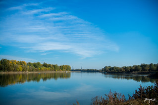 Confluence of the Sava and Bosna rivers
