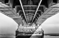 What Lies Beneath (Northern Tony) Tags: severnbridge bridge aust coast water estuary mist morning bw blackandwhite sea seaside monochrome underneath niksoftware silver efex pro lightroom6 landscape inspired by love