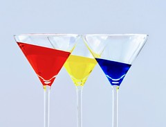 Glasses (Cor Oosterbeek) Tags: glasses colors red blue yellow cheers compositie composition rood geel blauw cocktail color colorful drink drinks drank glass glas glazen liquid stil leven diagonal diagonaal party bar feest celebration stilleven still life