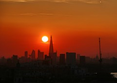 Sunset over The Shard (Waterford_Man) Tags: sunset shard london redsky architecture city england