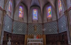 Labastide-Beauvoir. l'Église Notre-Dame-de-l'Assomption de 1884 (sergeimbert) Tags: hautegaronne juliebonnafous victorgesta vitraux labastidebeauvoir lauragais eglises