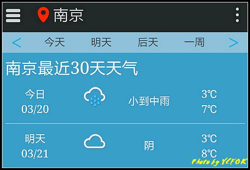南京 2018-03-20 天氣(今天早上到南京)