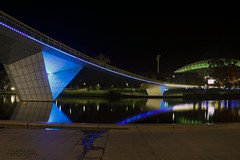 Under the bridge (ChrisKirbyCapturePhotography) Tags: riverbank rivertorrens reflections water colour lighting