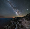 Grand Canyon Milky Way (kevin-palmer) Tags: grandcanyon grandcanyonnationalpark nationalpark arizona southrim nikond750 april spring shoshonipoint scenic view trees early morning dark stars starry milkyway galaxy galactic night sk sky astronomy astrophotography planets jupiter saturn mars stitch samyang rokinon14mmf28 clear square pinyonpines cliffs