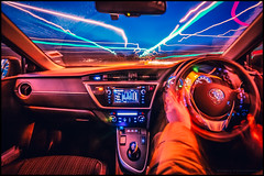 Don't lose control (G. Postlethwaite esq.) Tags: a38 auris canon40d derby derbyshire january sigma1020mm toyota afterdark driving lighttrails night sky wideangle sliderssunday hss