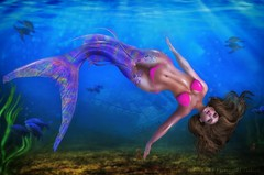 Darling It's Better, Down Where It's Wetter... (Cherry Inventor) Tags: pinkcreampie pcp catwa letre maitreya cynefin foxcity secondlife blog fashion pose mermaid 3d virtual