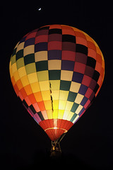 Midnight Ride (Longleaf.Photography) Tags: hotairballoon balloon ride night moon al colors