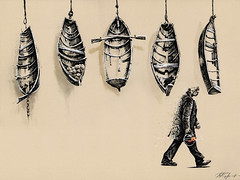 Vessels (Sergei U. Rukavishnikov) Tags: surrealism surreal drawing coloured colored pencil gelinkpen cardboard art