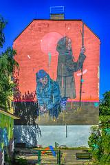 HOPE (JuliSonne) Tags: streetart urbanekunst mauer wall graffiti colors scene urban pasteup stencil street berlin muralfestivalberlin mural mrwoodland hope