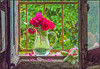 23 maggio 2018. In campagna (adrianaaprati) Tags: countryside may spring country roses red redroses pitcher water green window oldwindow stilllife