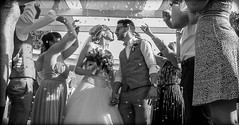 Wedding Day. (CWhatPhotos) Tags: cwhatphotos 2018 girls woman group confetti together groom best man guests happy smiles smile smiling fun bride bridesmaids april digital camera pictures picture image images photo photos foto fotos that have which contain olympus seafront golden coast beach blue sky skies sunny day holiday cyprus eastern protaras goldencoastbeachhotel wedding people party samyang fisheye fish eye view 75mm wide angle prime lens