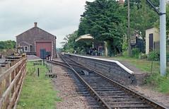 Dunster Station, 25 Aug 1993 (Ian D Nolan) Tags: railway film epsonperfectionv750scanner 35mm dunsterstation
