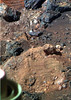 Colorful Scene Near Endeavour Crater (sjrankin) Tags: 22may2018 edited nasa colorized mars sand dust rocks rgb bands257 opportunity treadmarks wheelmarks endeavourcrater